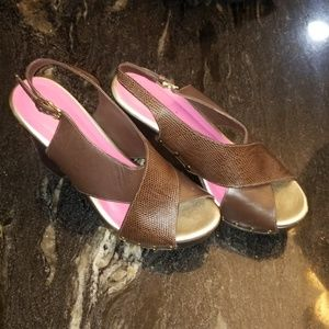 Lily Pultizer Wedges Brown size 8.5